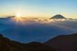 富士山とご来光 丸山林道にて