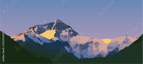 Valokuva  Vector of Mount Everest