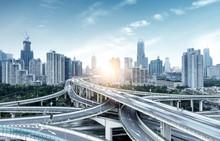 Shanghai, China Highway And Viaduct