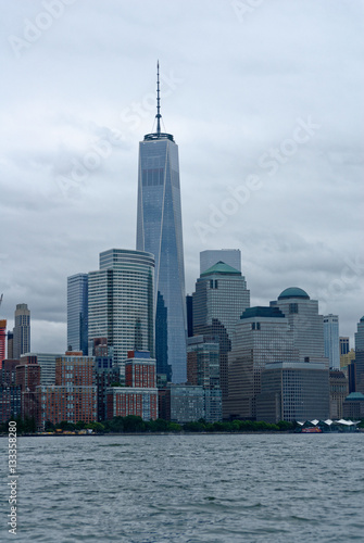 Manhattan Sky Line with Freedom Tower Poster