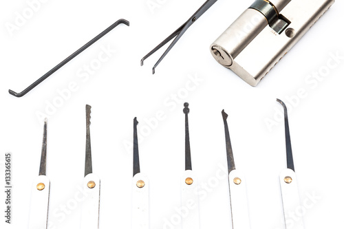 an lock pick - Buy this stock photo and explore similar
