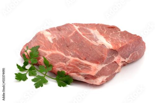 Foto op Canvas Vlees mięso wieprzowe karkówka