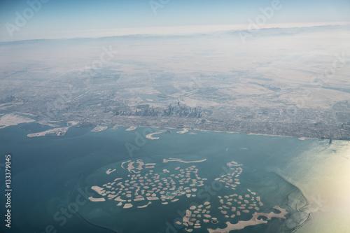 Photo Stands Palm tree Küste von Dubai - Vereinigte Arabische Emirate - Luftbild,
