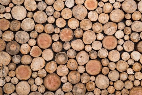 Fotobehang Brandhout textuur texture bois coupé en rondins