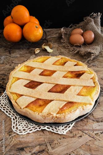 Photo  Original Easter cake Neapolitan Pastiera