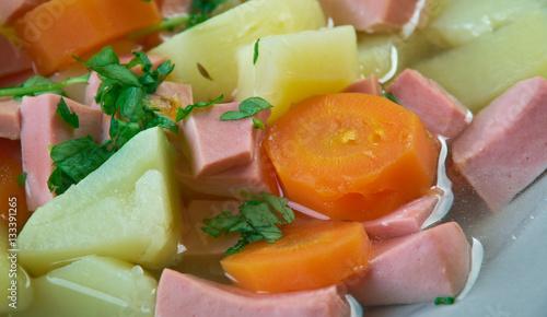 Garden Poster Juice Finnish sausage soup