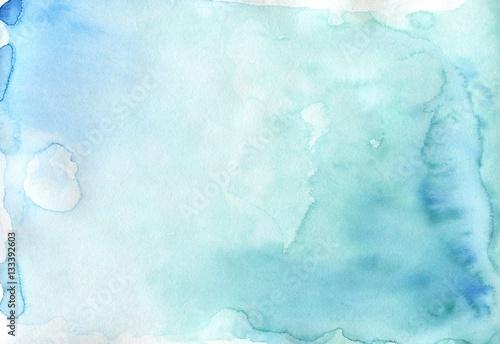 Zdjęcie XXL Absrtact miękki akwarela backgraund. Ręcznie malowane światło watercol