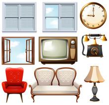 Different Vintage Furnitures O...