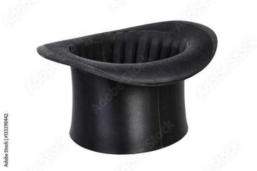 Foto Schwarzer Hut, Zylinder isoliert weißer Hintergrund
