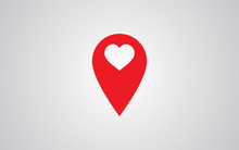 Marker Location Icon With Heart