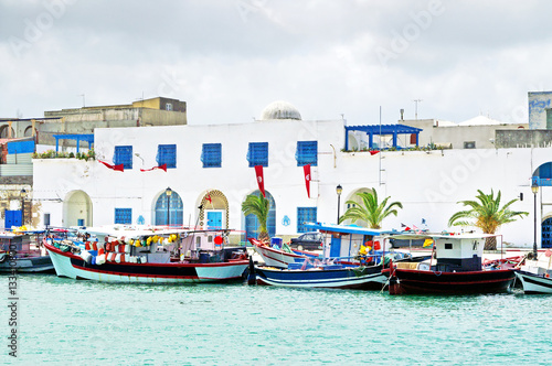 Poster Tunesië Resort town Bizerte in Tunisia, Africa