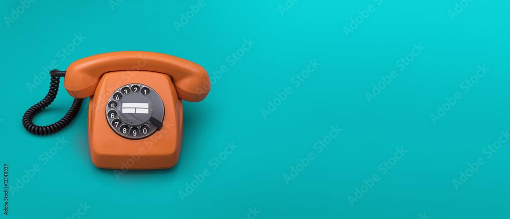 Fototapety, obrazy: Retro telephone header