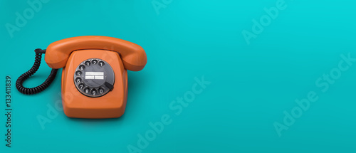 Fotobehang Retro Retro telephone header
