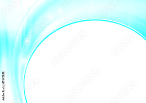 Fototapety, obrazy: Abstract blue waves White background