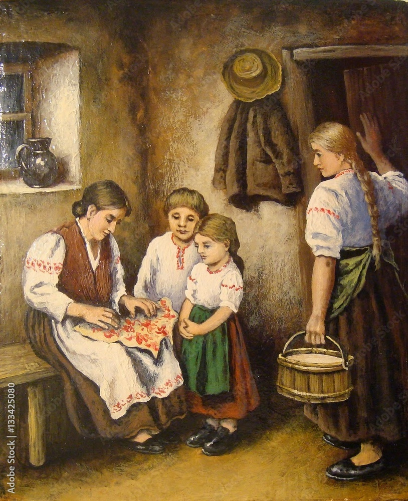 Oil paintings,family, women, history, art