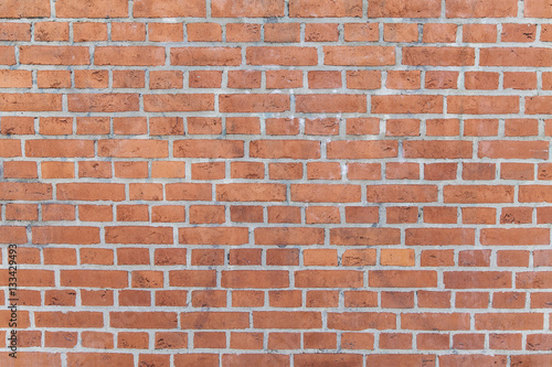 Photo sur Toile Brick wall Mauer aus roten Backsteinen