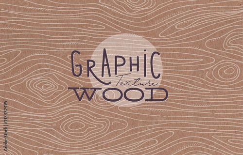 Graphic wood texture brown - 133432495