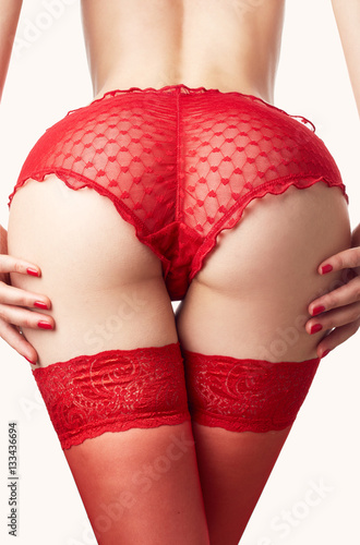 Plakat  Woman in sexy red underwear