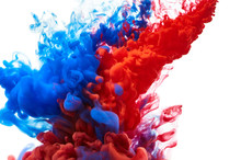 Blue And Red Ink Splash