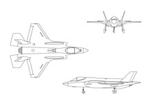 Outline Drawing Of Military Ai...