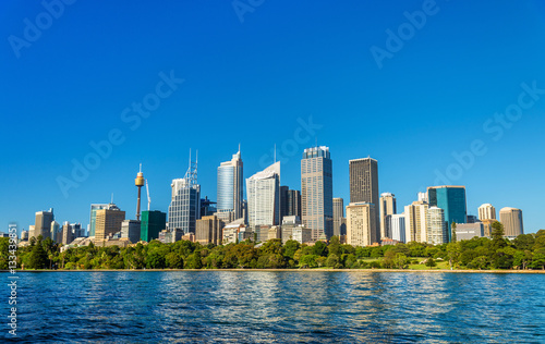 Skyline of Sydney central business district - Australia