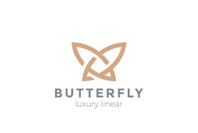 Butterfly Logo Vector Linear. ...