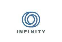 O Letter Logo Infinite Shape Design Vector Linear Style