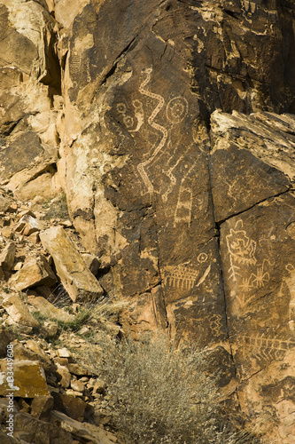 Printed kitchen splashbacks Newspapers native american petroglyphics in utah
