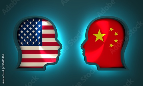 Image relative to politic and economic relationship between USA and