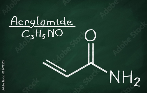 Structural model of Acrylamide Canvas Print