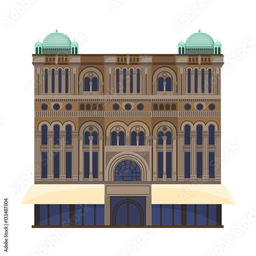 Carta da parati Queen Victoria Building icon in cartoon style isolated on white background