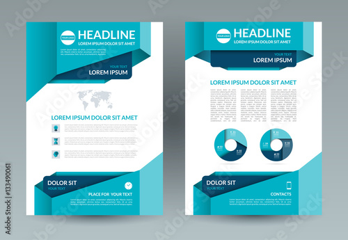 Business brochure layout template Poster