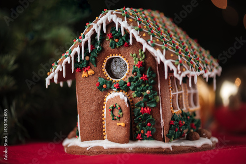Foto op Canvas Kerstmis Christmas gingerbread house
