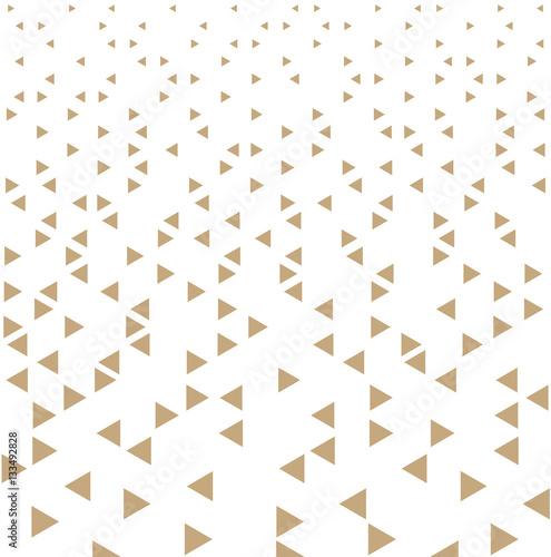 Plakaty wzór ze złotych trójkątów na białym tle