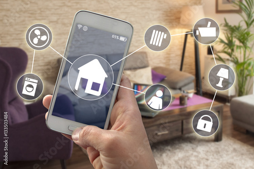 Photo  Smarthome Smartphone Hausautomatioon Smart home