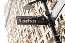 Broadway Street Sign With Fina...