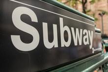 New York City Subway Station Entrance Sign
