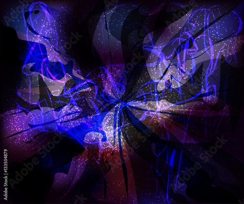 Fototapety, obrazy: galaxy glassy waves futuristic virtual technology vector