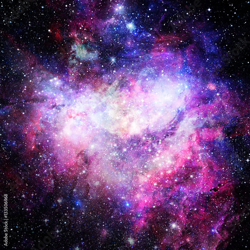 Deurstickers Nasa Nebula and galaxies in space. Elements of this image furnished by NASA.