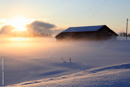 Fototapeta 洞爺湖町の田園風景