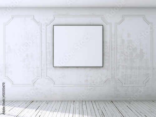 Foto op Aluminium Wand mock up posters with loft interior background, 3D render