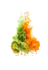 Colors dropped into liquid and photographed while in motion, Clo
