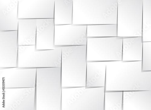 Fototapeta White stick note isolated obraz na płótnie