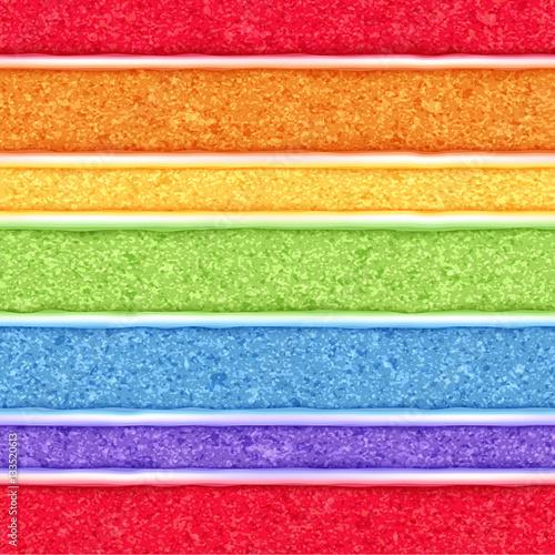 Fotografie, Tablou  Rainbow sponge cake background. Colorful seamless texture.