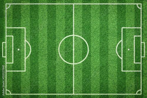 Fotografie, Obraz  top view of soccer field