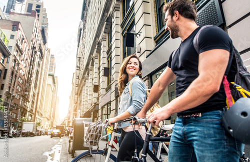 Photo Cyclists in New York