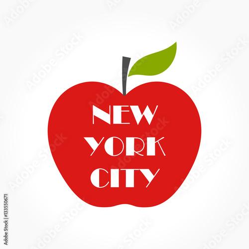 Cuadros en Lienzo Big apple illustration