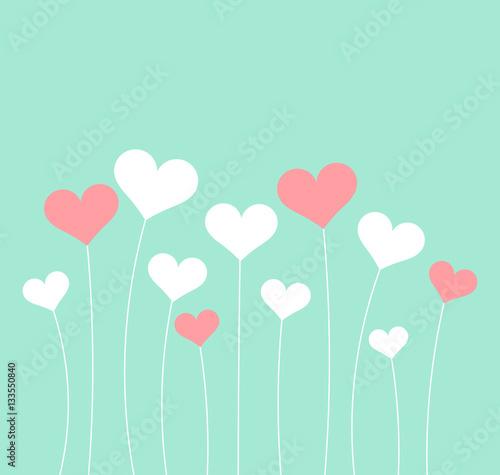 Fototapeta Pastel heartsValentine's Day card obraz na płótnie