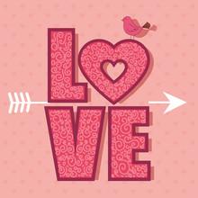 Happy Valentines Day Card Vector Illustration Design