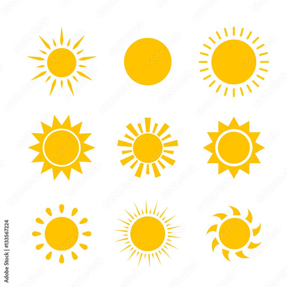 Fototapety, obrazy: Vector modern sun set sunshine